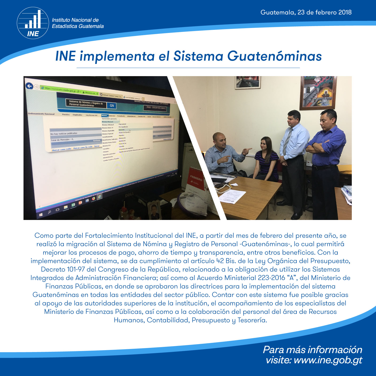 Implementación Sistema Guatenóminas