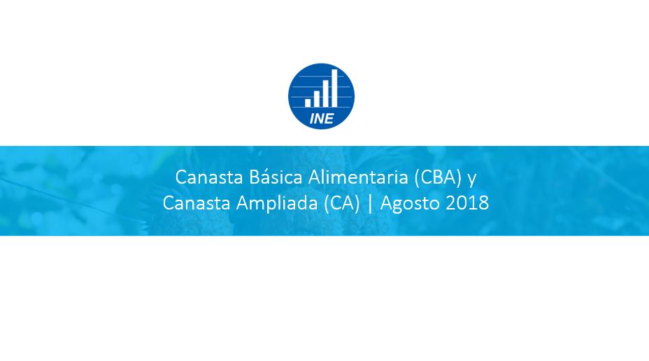 Canasta Básica Alimentaria Agosto 2018