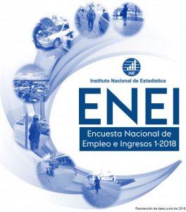 ENCUESTA NACIONAL DE EMPLEO E INGRESOS 1-2018 YA DISPONIBLE