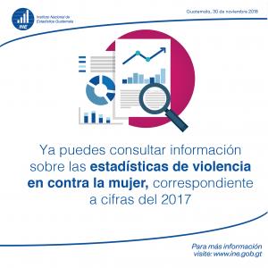 CIFRAS DE ESTADÍSTICAS 2017 DE VIOLENCIA EN CONTRA DE LA MUJER