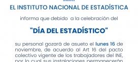 INE permanecerá cerrado el lunes 16 de noviembre