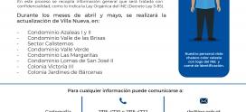 Actualización cartográfica en Villa Nueva