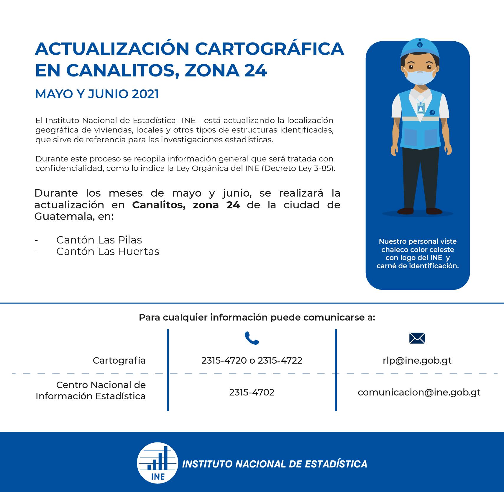 Actualización cartográfica en Canalitos, zona 24.