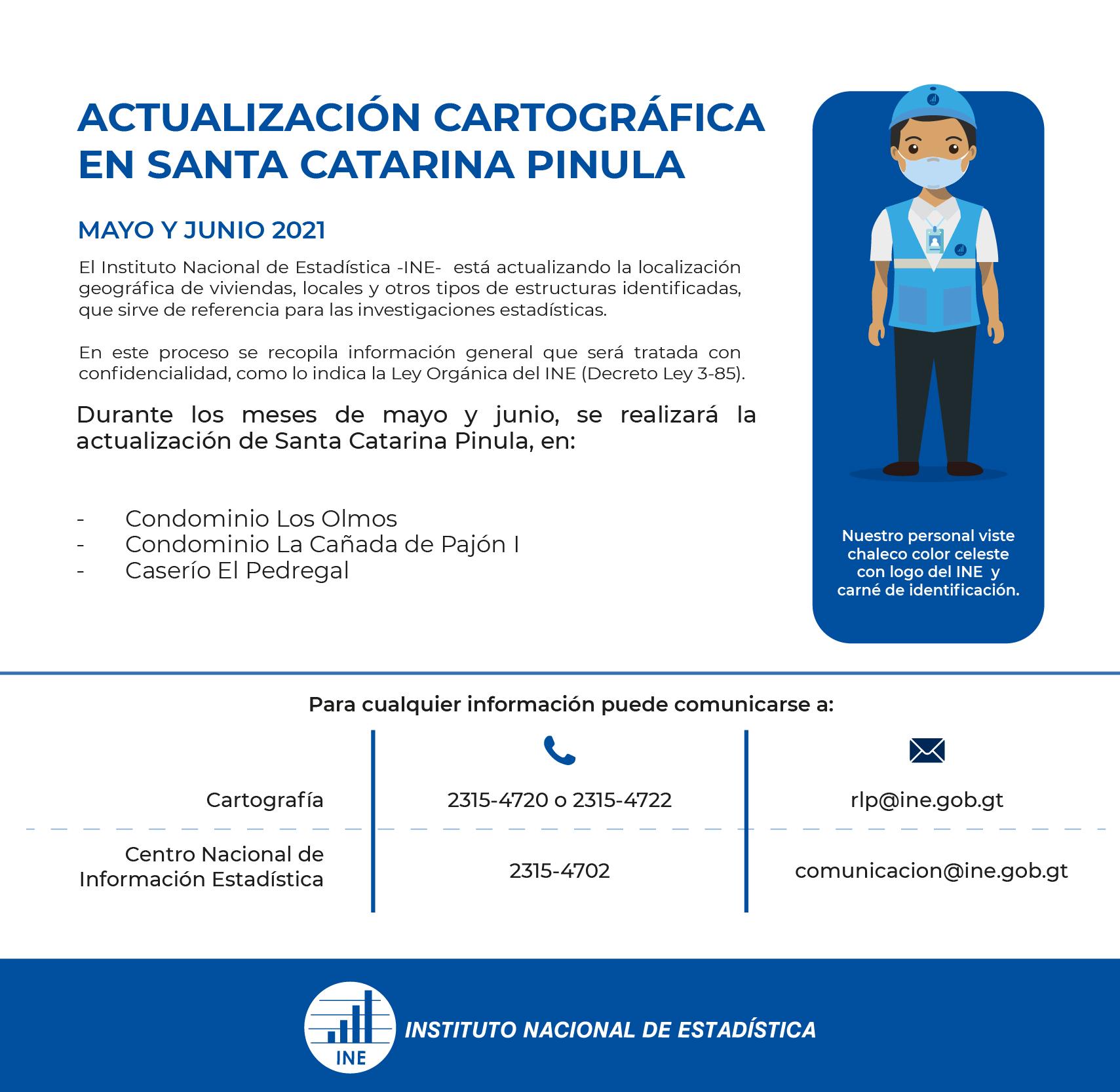 Actualización cartográfica en Santa Catarina Pinula