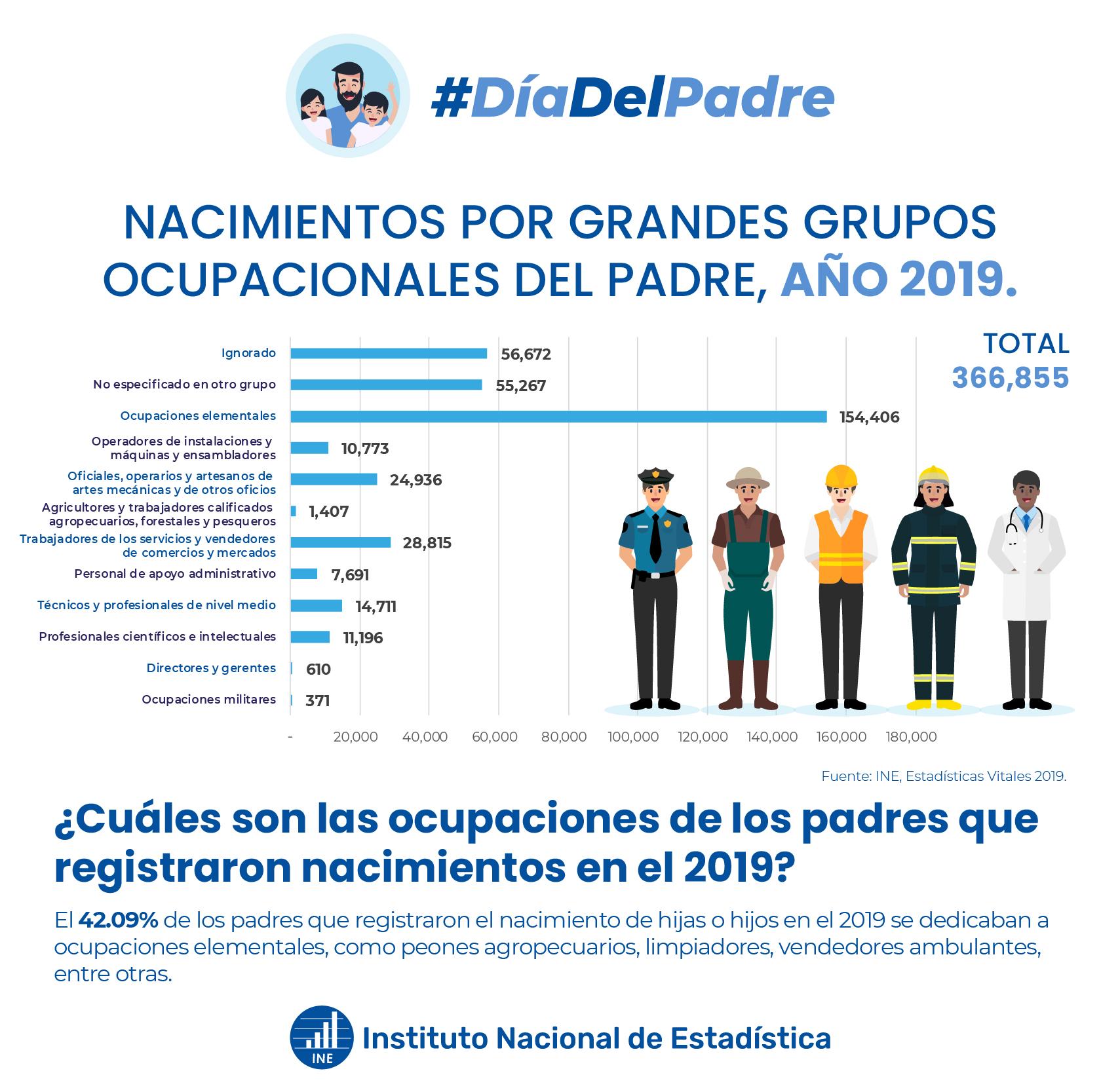 Nacimientos por grupos ocupacionales del padre